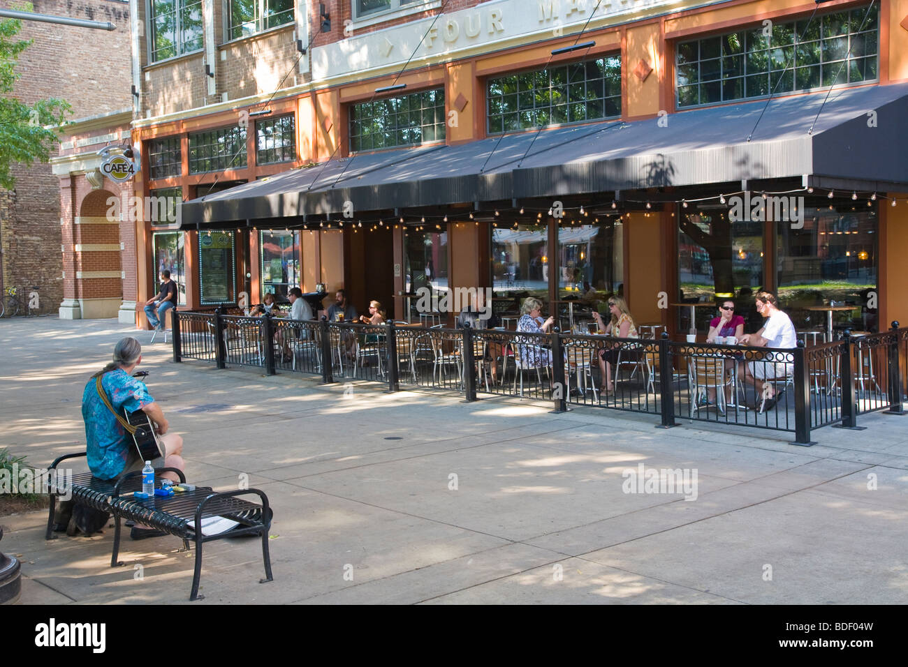 Market Square Shopping And Dining Area In Downtown Knoxville