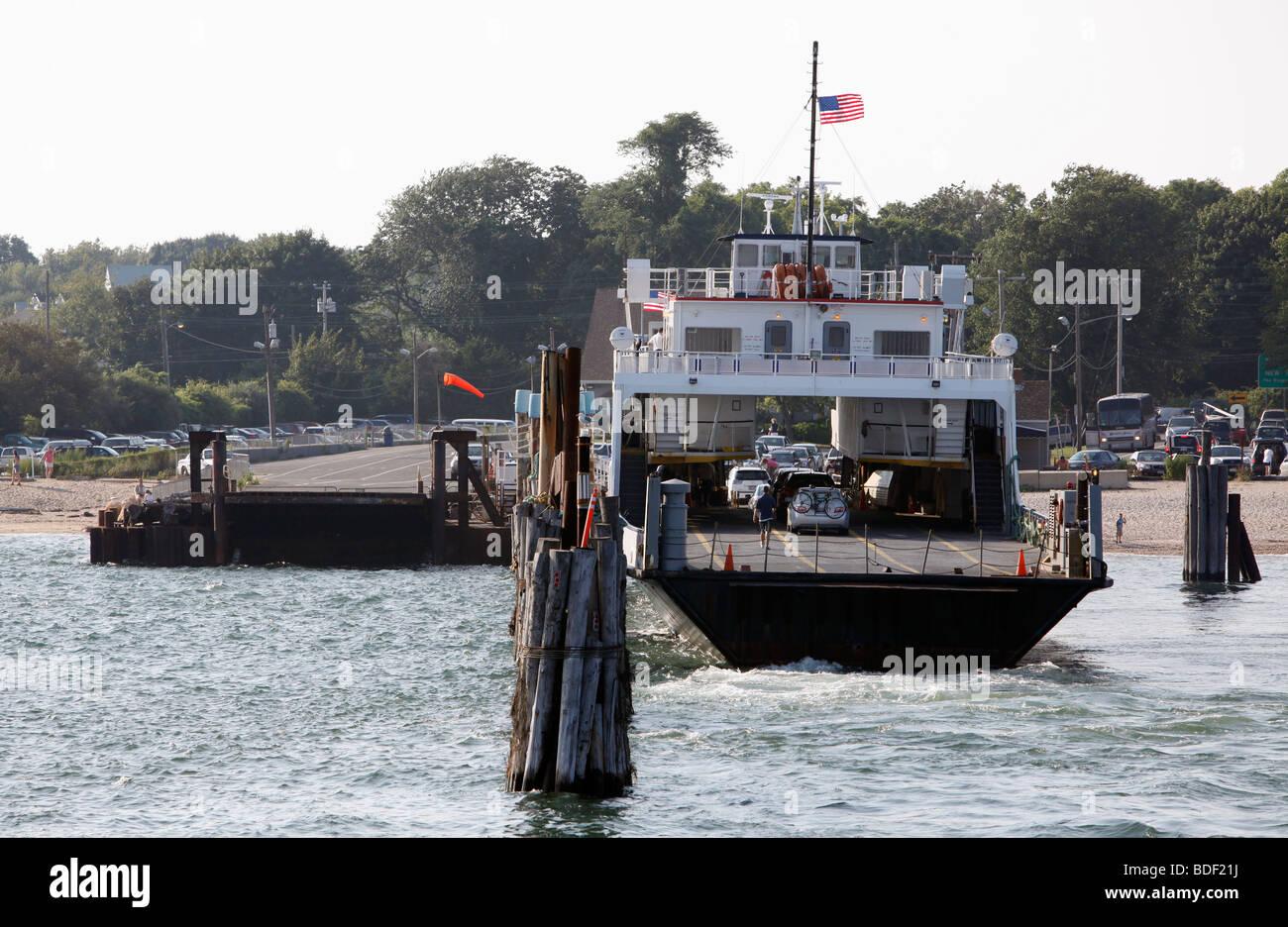 Cross Sound ferry terminal, Orient Point, Long Island, New York - Stock Image