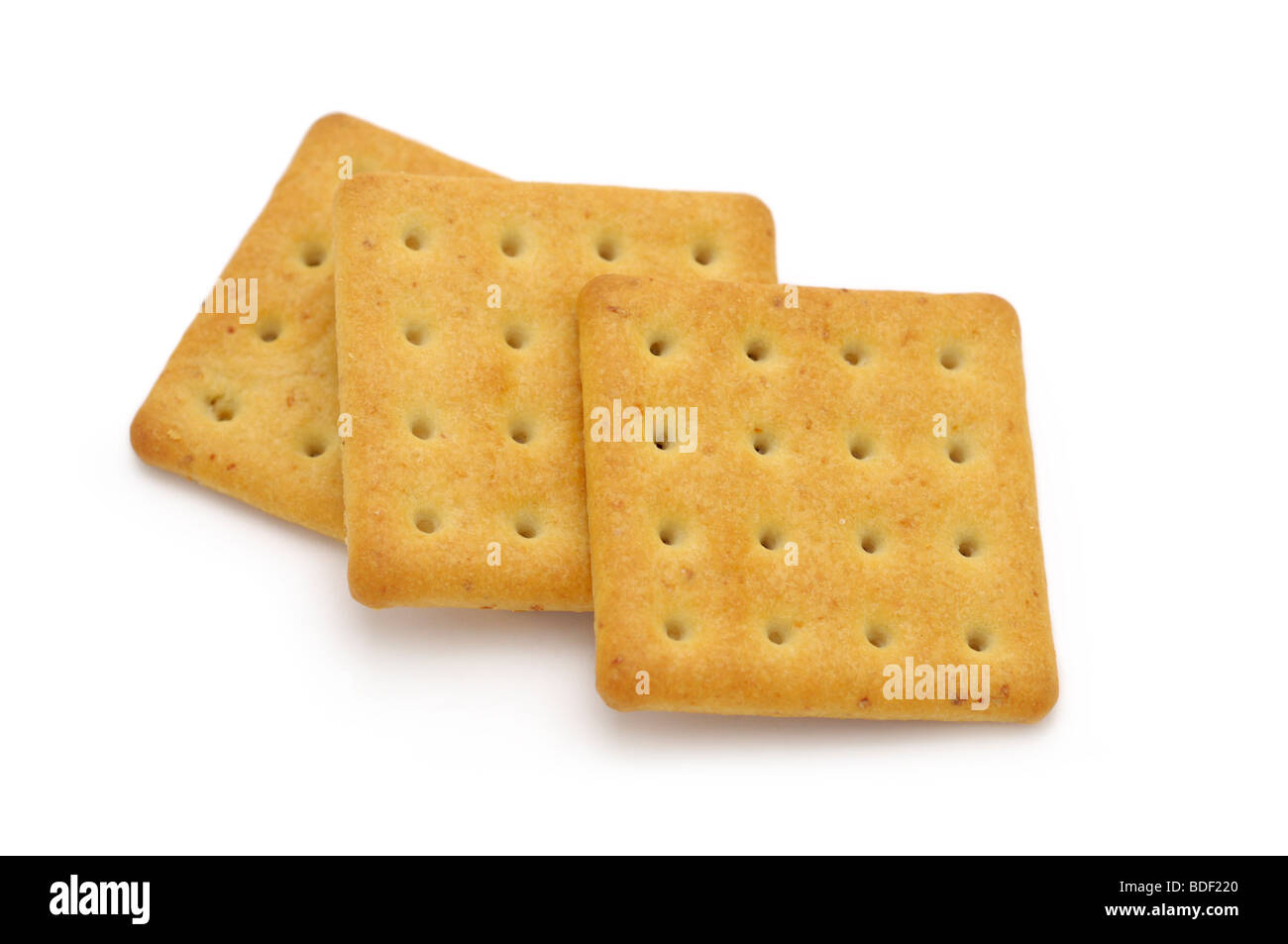 Rich Butter Crackers - Stock Image