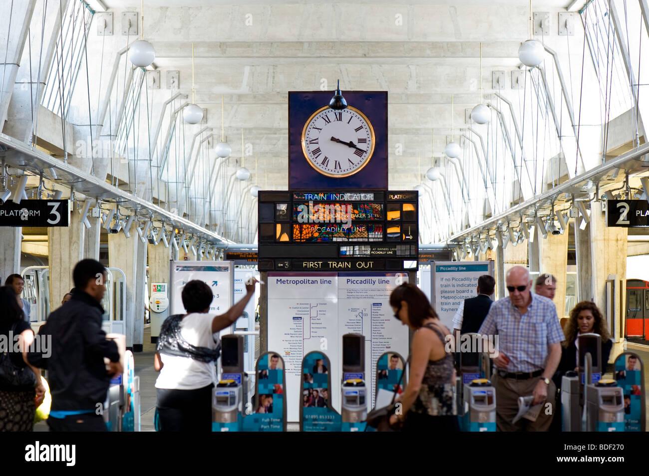 Underground Station, Uxbridge, Middlesex, United Kingdom - Stock Image