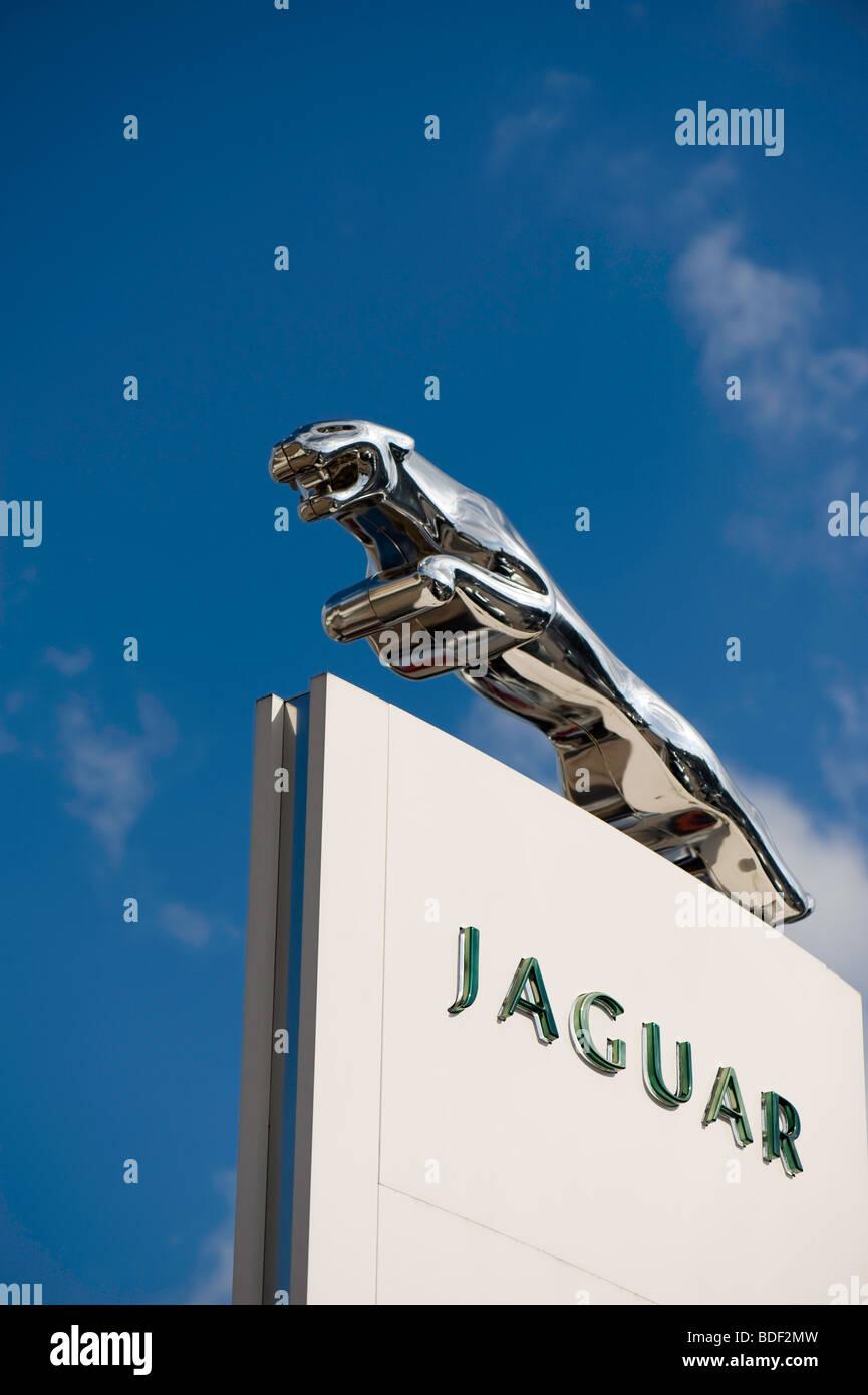 Jaguar car showroom, London, United Kingdom - Stock Image