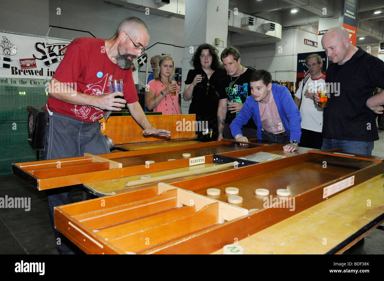 traditional bar games being played at the great british beer