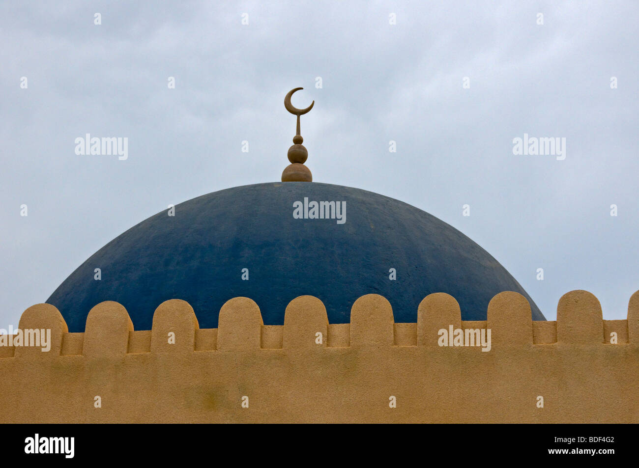 Rooftop of a mosque Muscat Sultanate of Oman - Stock Image