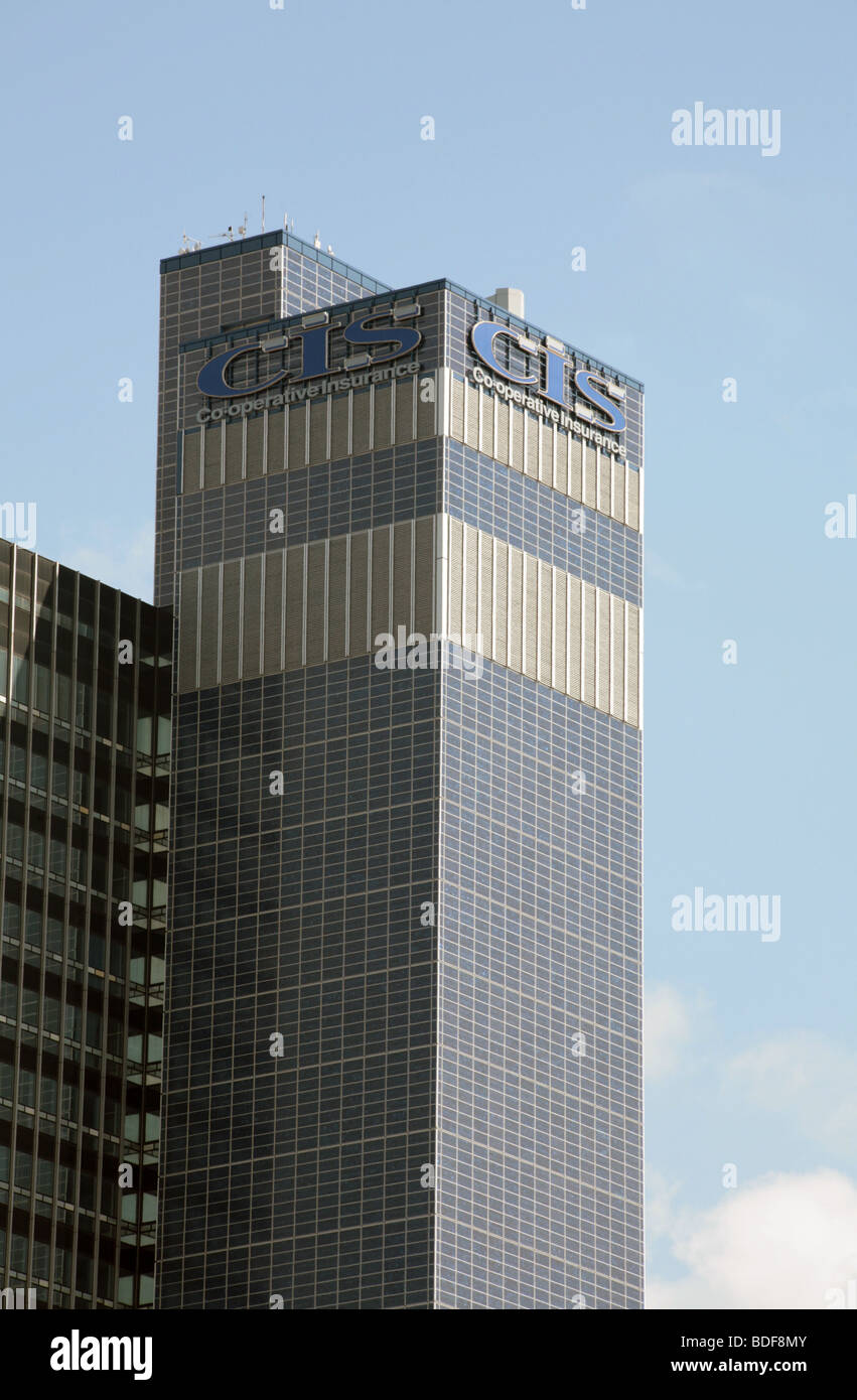 The Co Operative Insurance CIS  Building with solar panels Manchester England - Stock Image