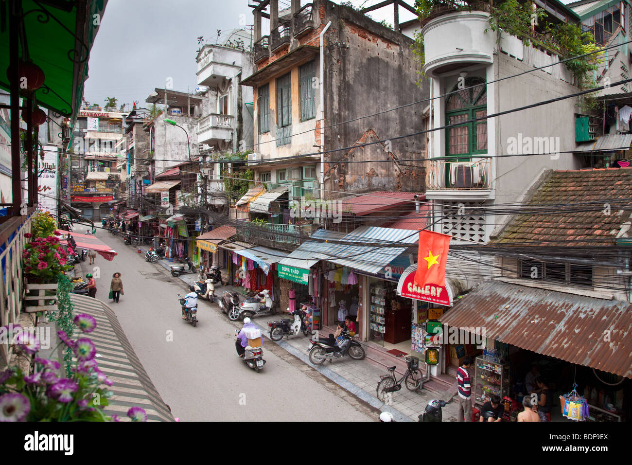 A street scene in Hanoi, North Vietnam - Stock Image