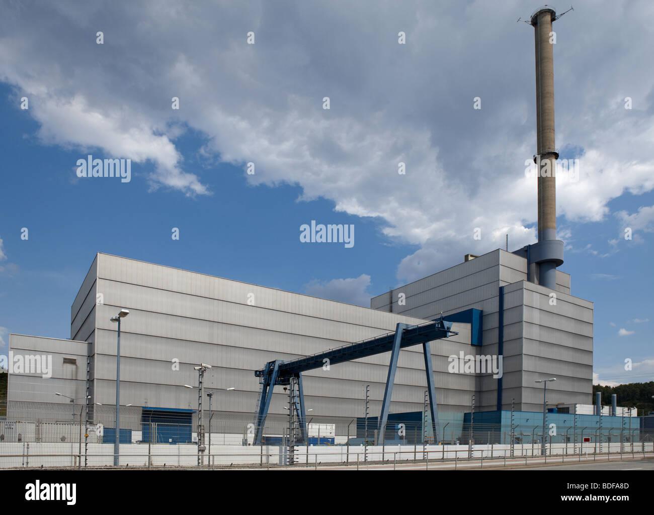 Kernkraftwerk, AKW Kruemmel, Deutschland, Germany, Nuclear - Stock Image