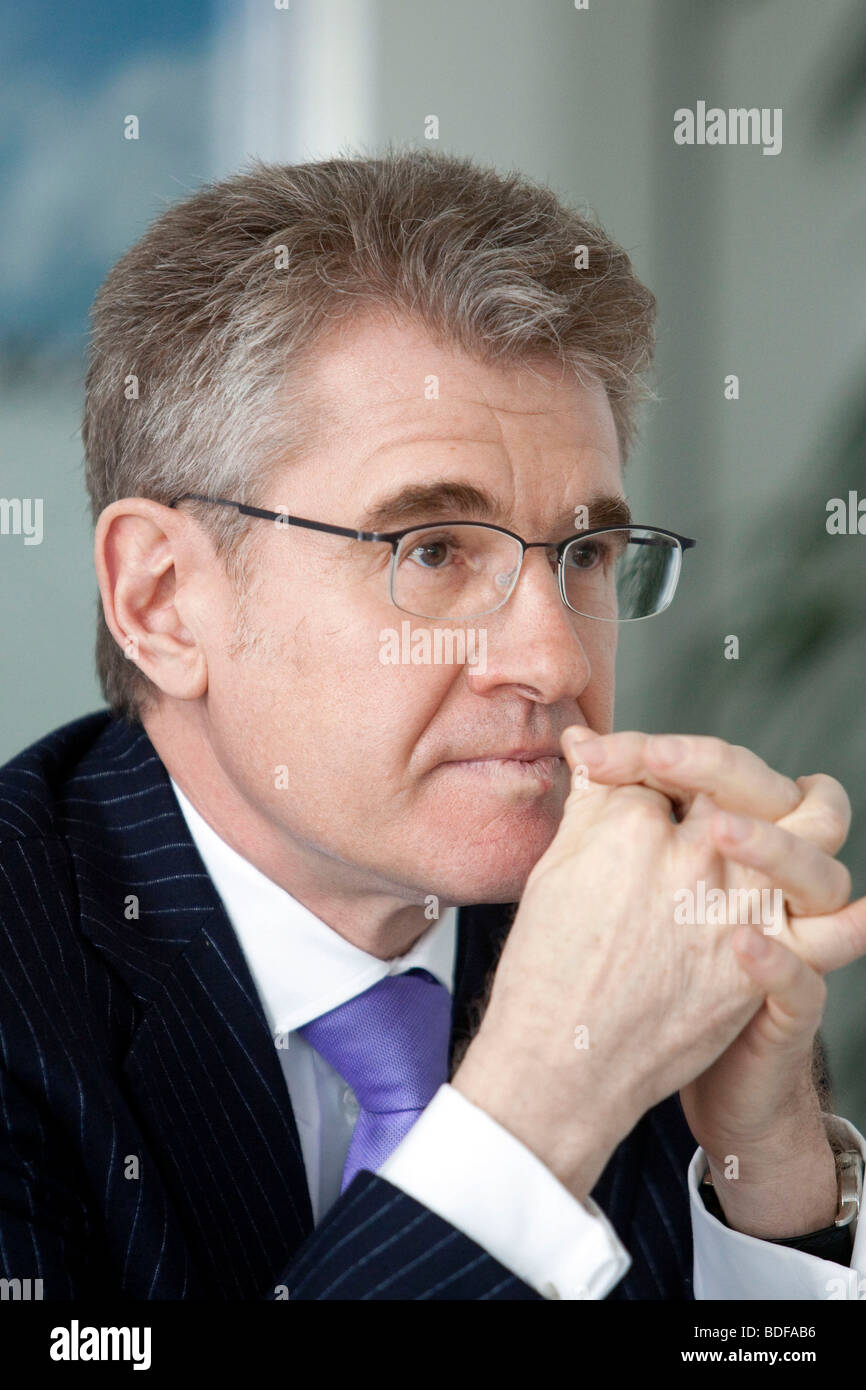 Edgar Binnemann, chief financial officer of the Sued-Chemie AG, during the press conference on financial statements - Stock Image