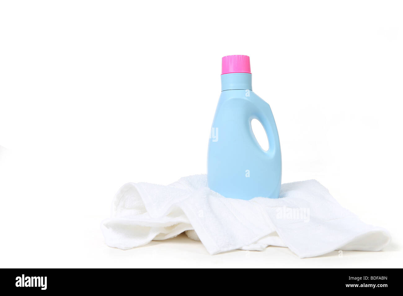 Laundry Detergent On Top of a Towel With Copy Space - Stock Image