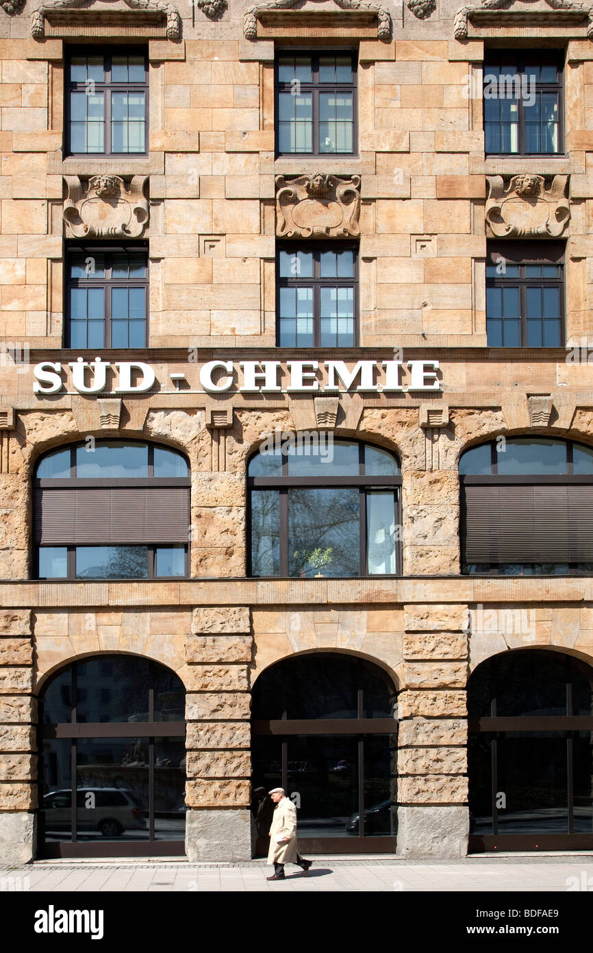 Corporate headquarters of the Sued-Chemie AG, in Munich, Bavaria, Germany, Europe - Stock Image