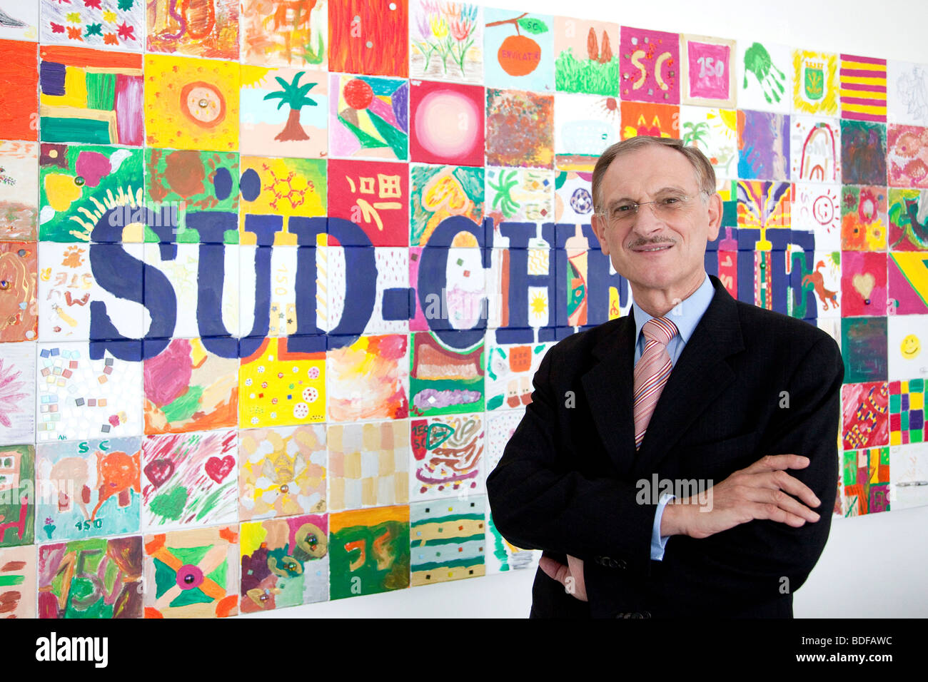 Guenter von Au, chair executive of the Sued-Chemie AG, in Munich, Bavaria, Germany, Europe - Stock Image