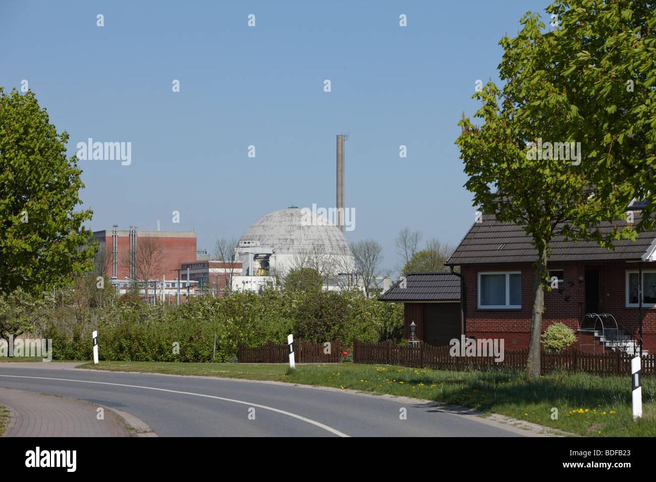 Nuclear Power Plant, Atomkraftwerk, Stade, Germany - Stock Image