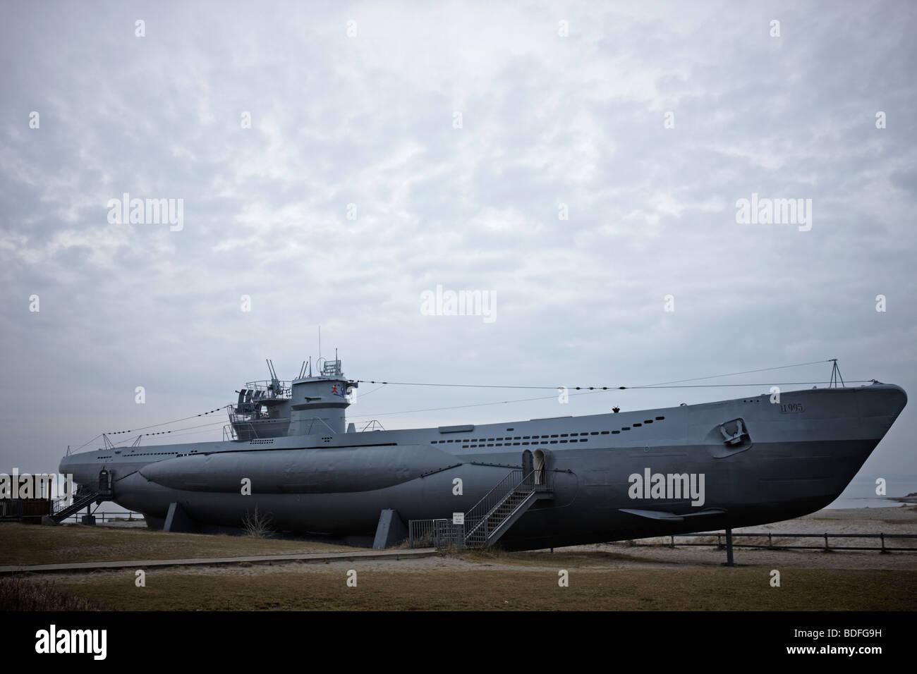 German Submarine U995 in Laboe/Germany, Museum - Stock Image