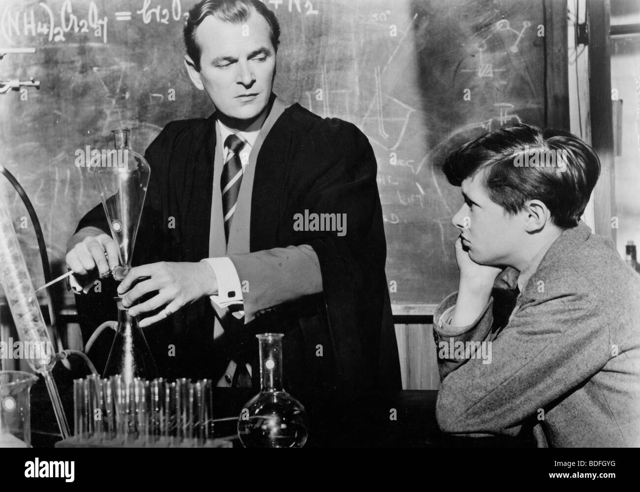 THE BROWNING VERSION  - 1951 GDF film with Nigel Patrick as the teacher - Stock Image