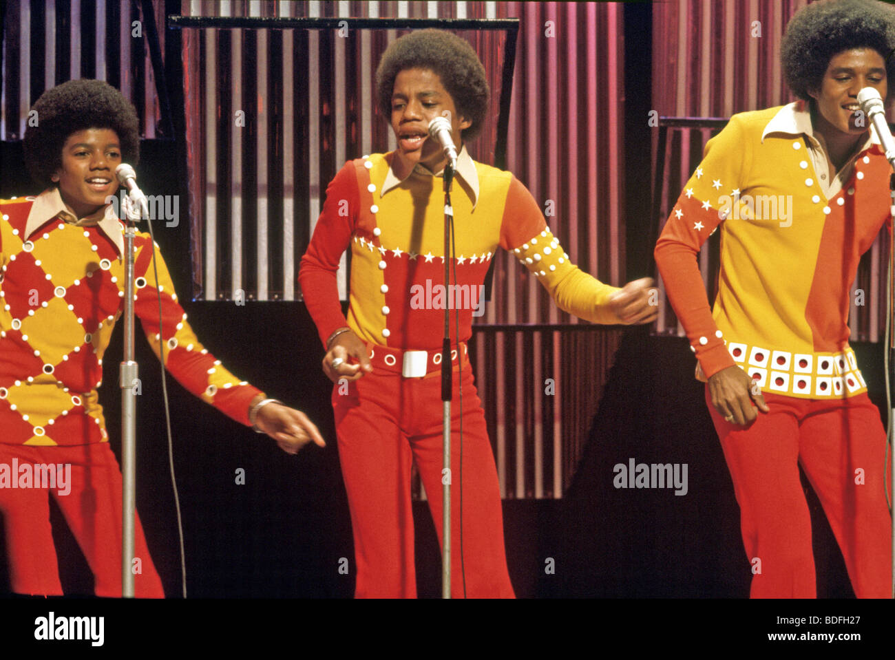 MICHAEL JACKSON at left with the Jackson Five - Stock Image