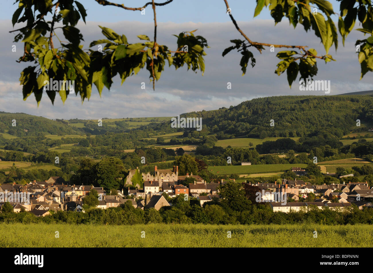 Hay on Wye. Summer time view. - Stock Image