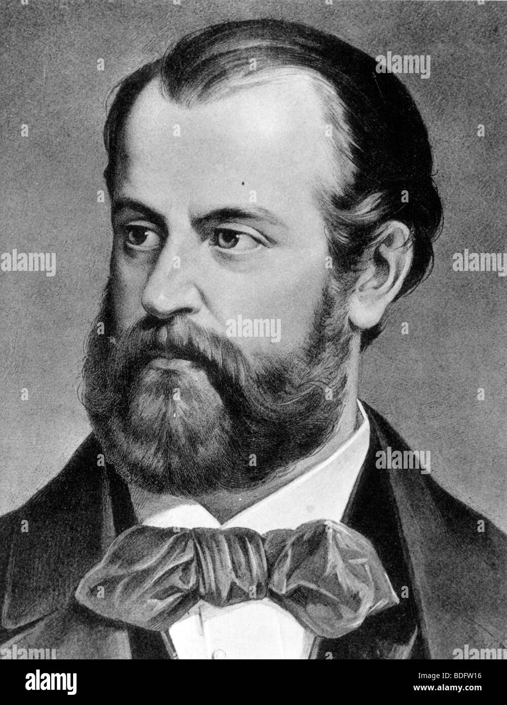 CHARLES GOUNOD, (1818-1893) French composer of operas including Faust, also many songs, church music and symphonies. - Stock Image