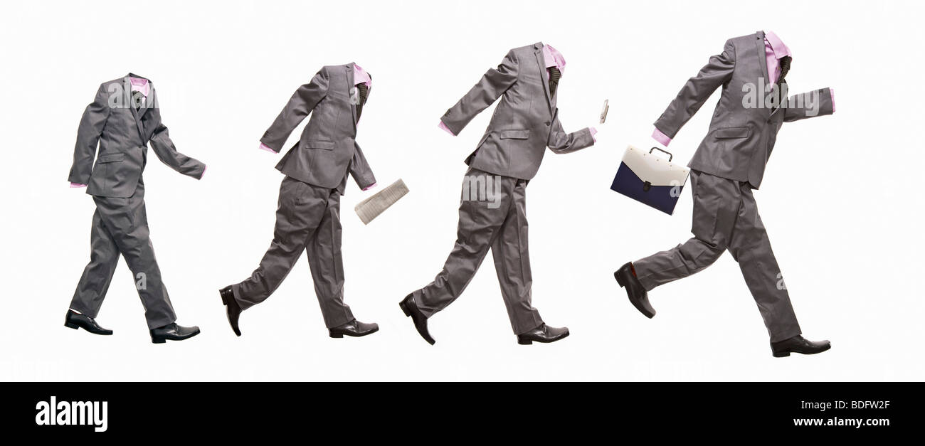 A conceptual image with 4 suits - Stock Image