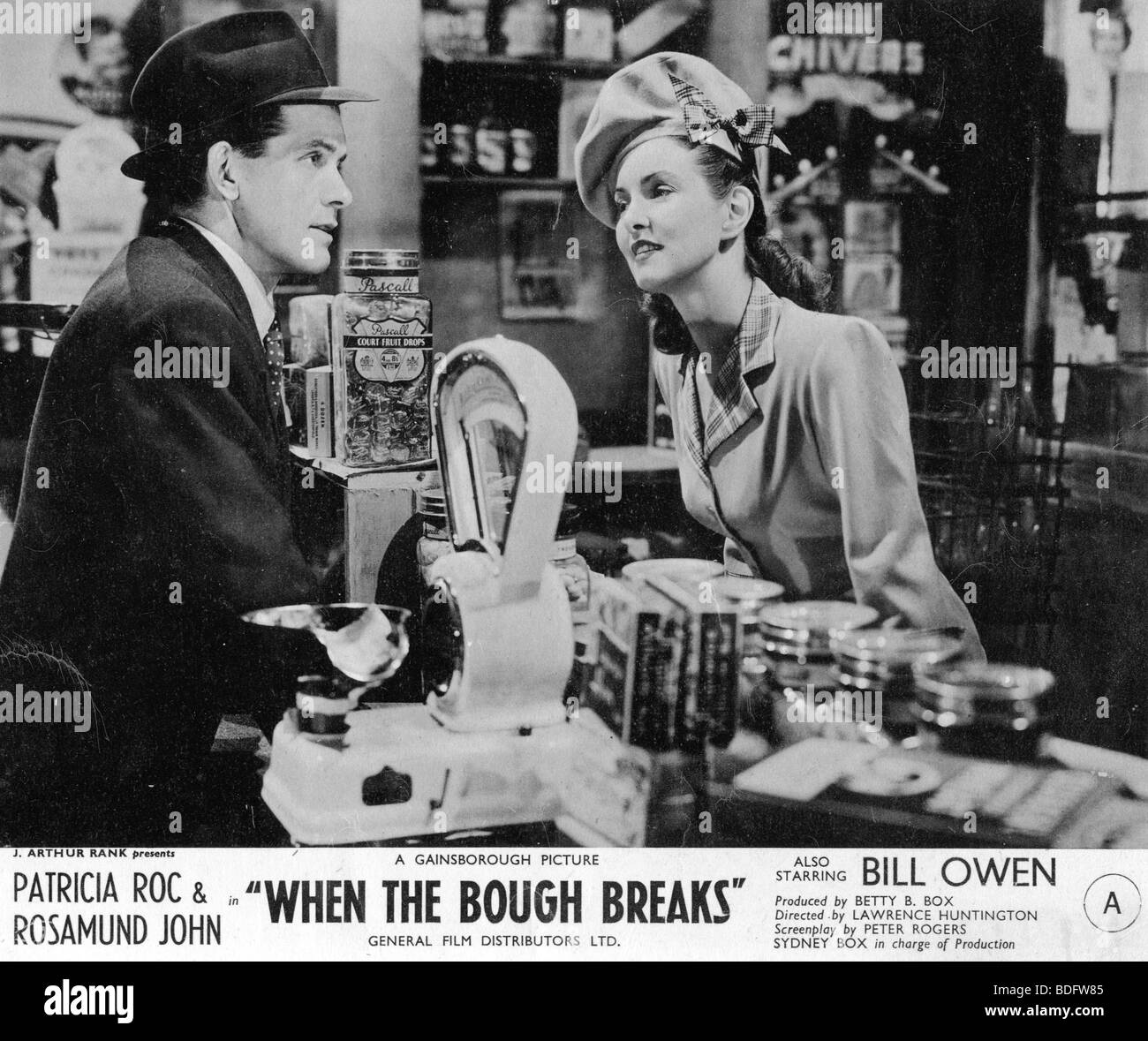 WHEN THE BOUGH BREAKS  1947 GFD film with Bill Owen and Patricia Roc - Stock Image