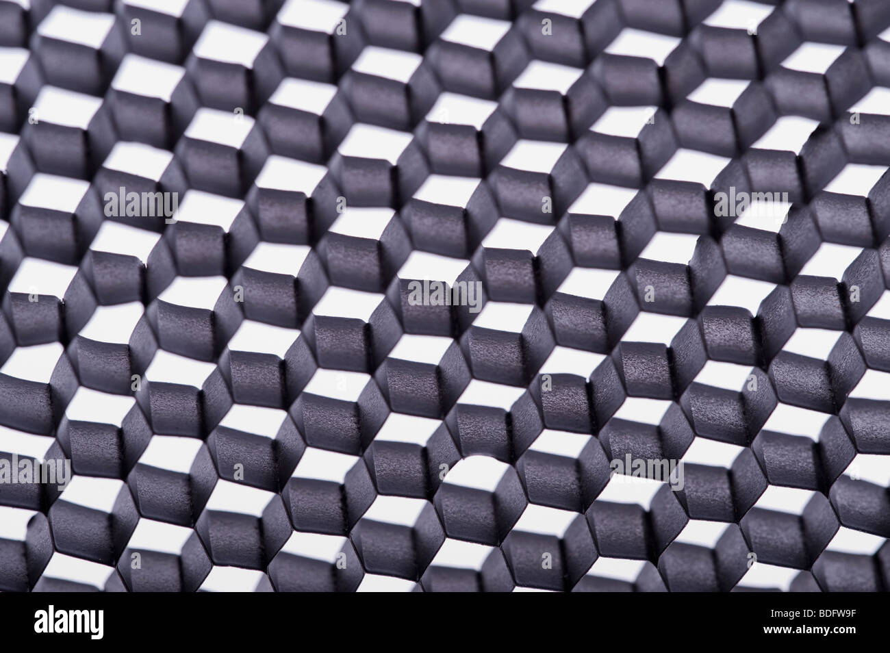 Black and white checkerboard pattern - Stock Image
