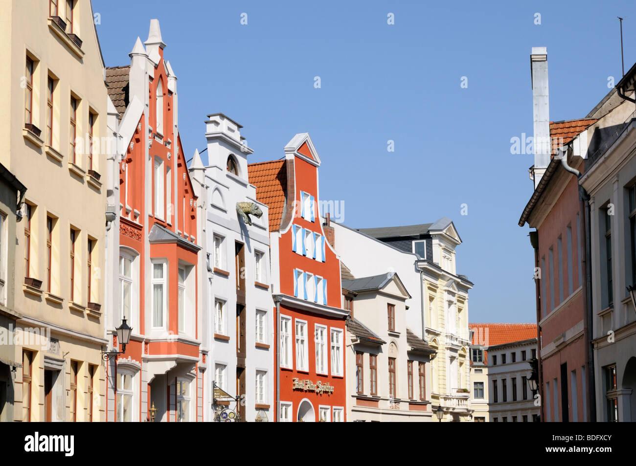 Altstadt von Wismar Mecklenburg Vorpommern Deutschland Old town of Wismar Mecklenburg Western Pomerania Germany - Stock Image