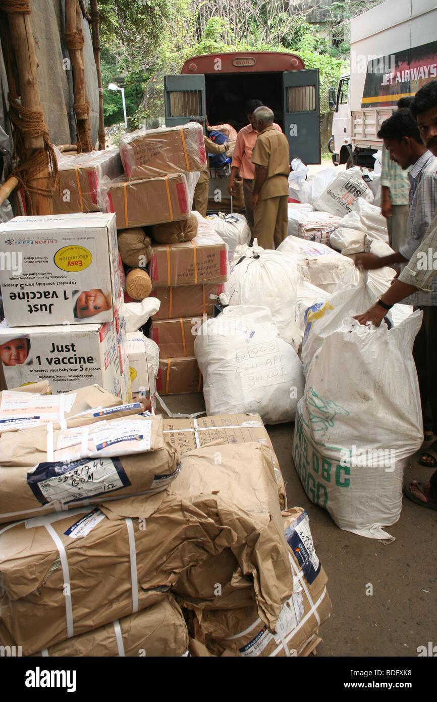Airfreight Mumbai Airport Logistics air cargo - Stock Image