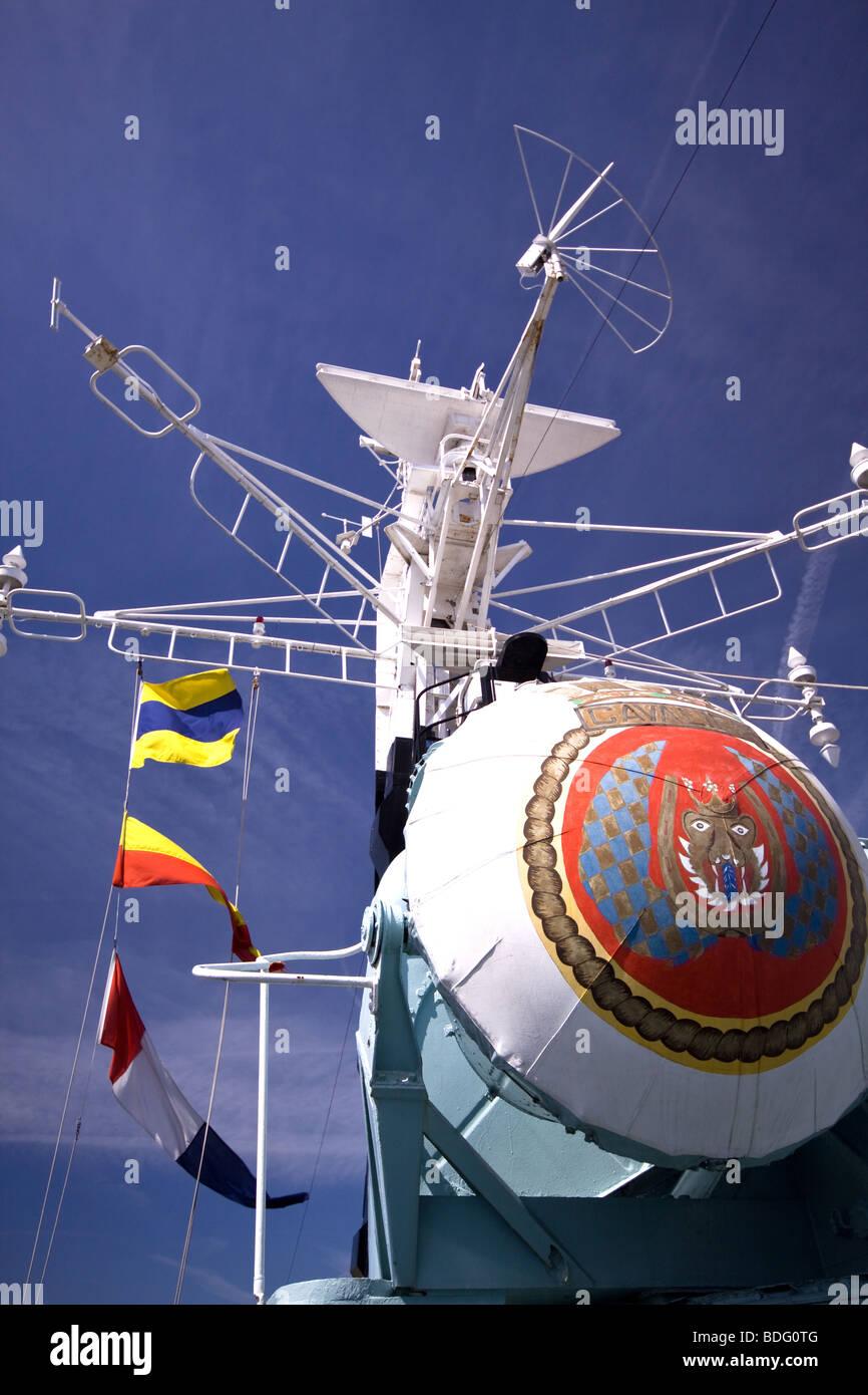 HMS Cavalier Chatham Historic Dockyard Kent - Stock Image