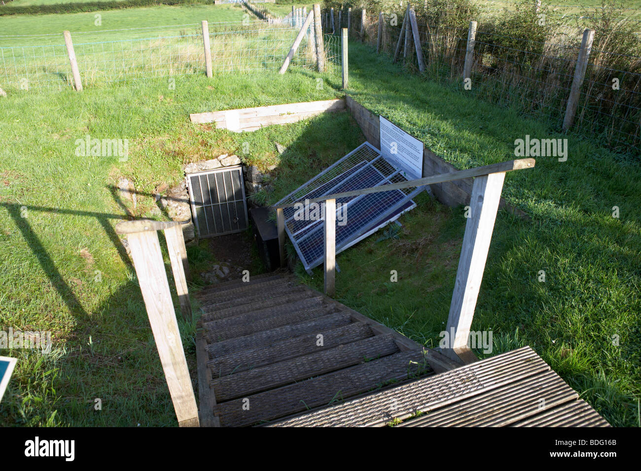 entranceway down to finnis souterrain known locally as binders cove is an underground structure updated Stock Photo