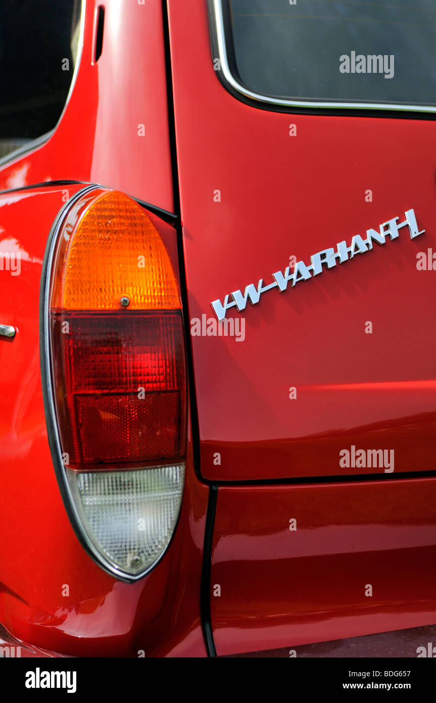 Detail of a VW Variant or Typ3, construction period from 1961 to 1973, Germany - Stock Image