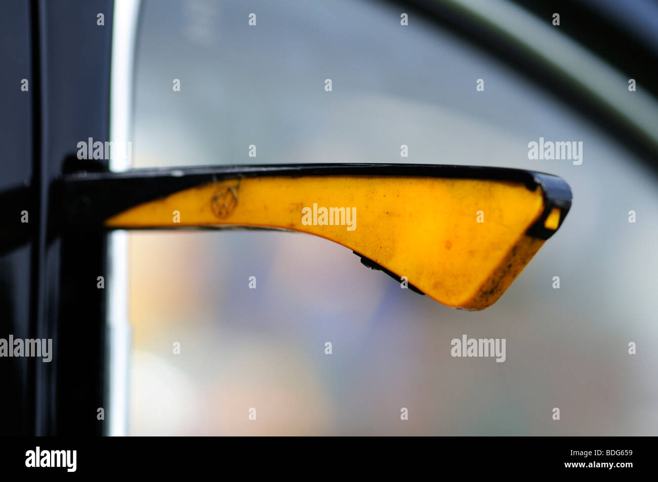 Direction indicator of an old VW Beetle, Germany - Stock Image
