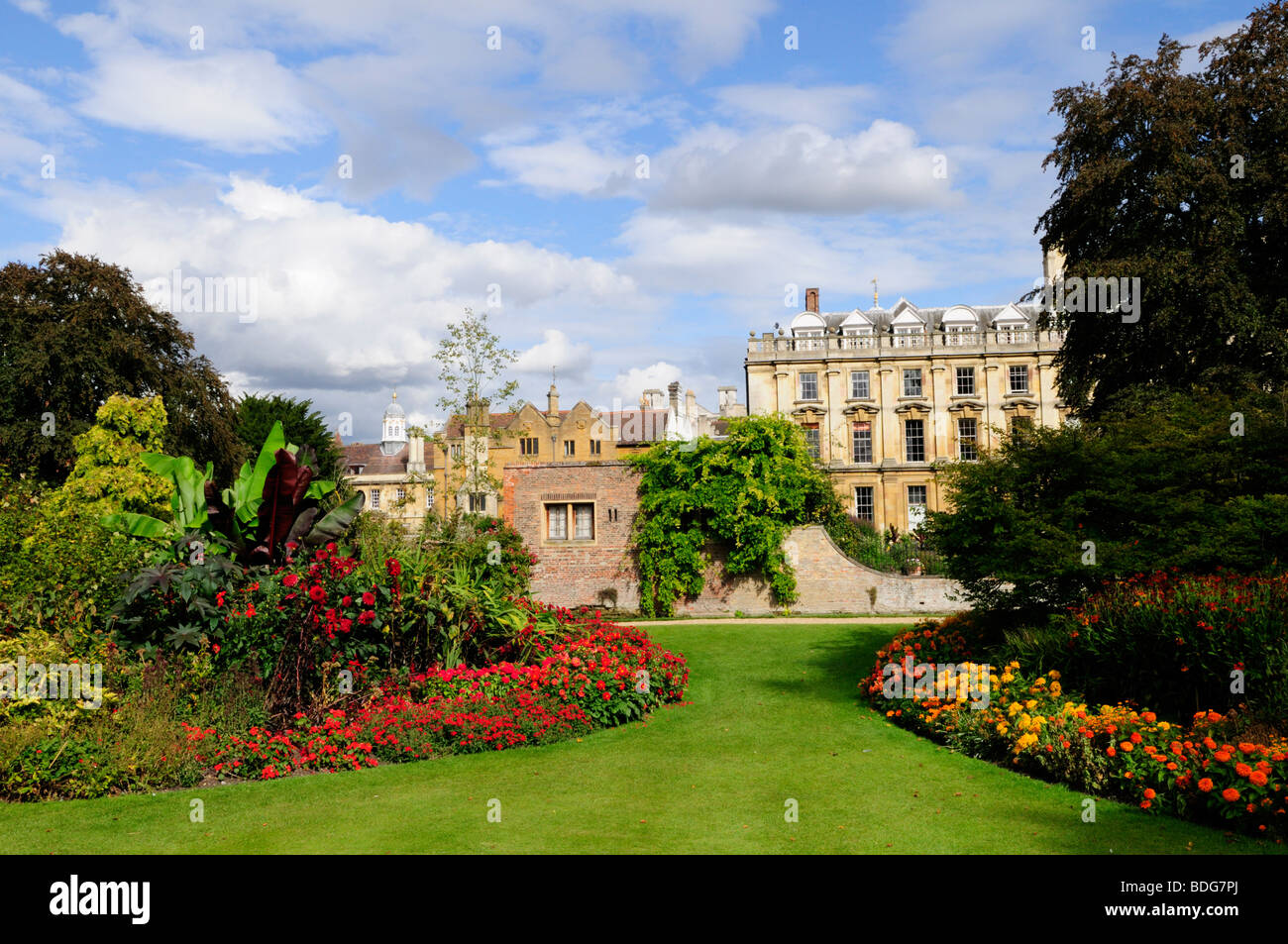 Fellows garden at Clare College Cambridge England UK - Stock Image
