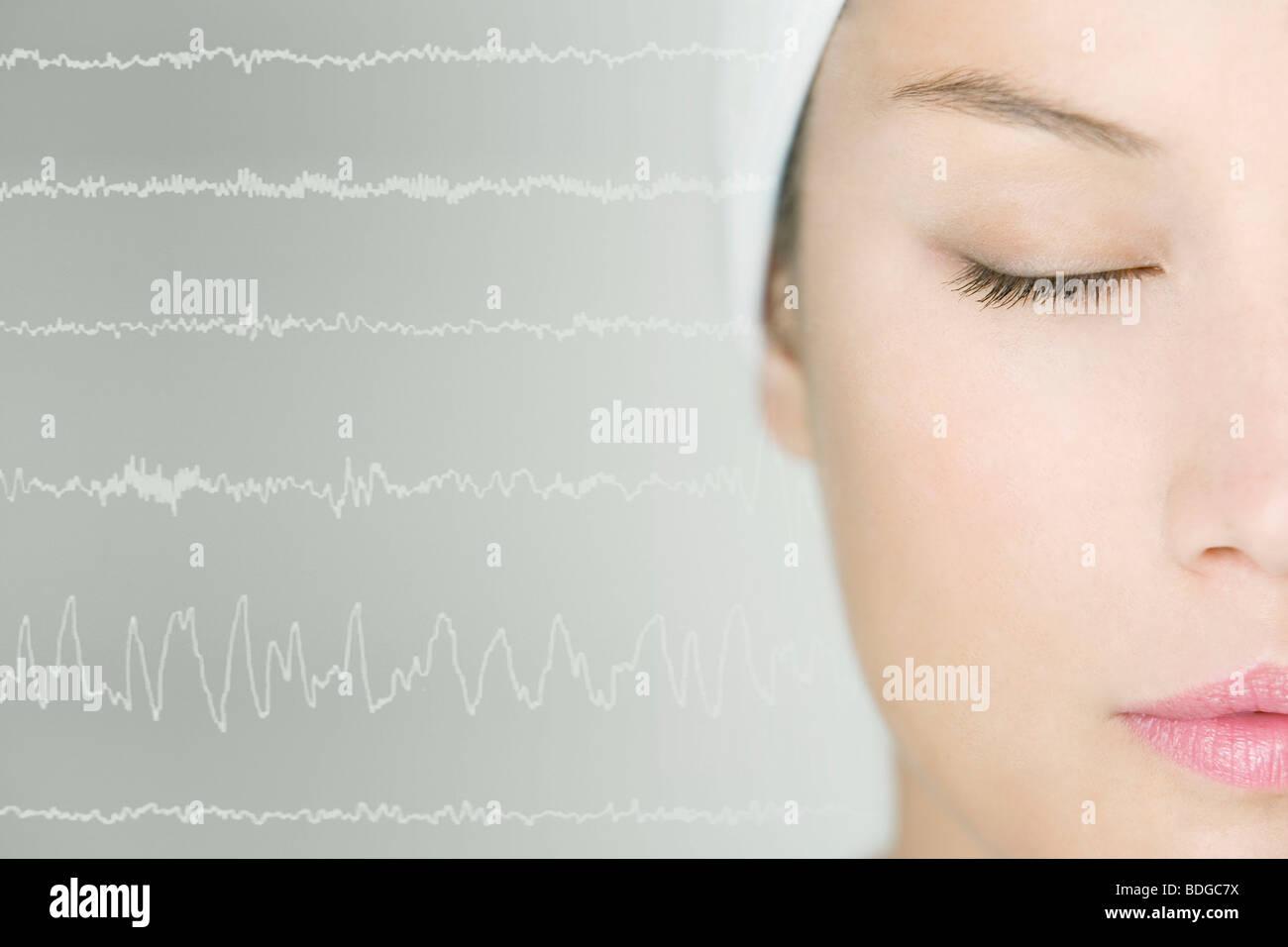 STUDY OF SLEEP - Stock Image