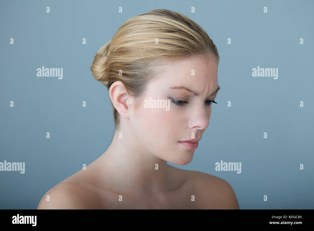 ANXIOUS WOMAN - Stock Image