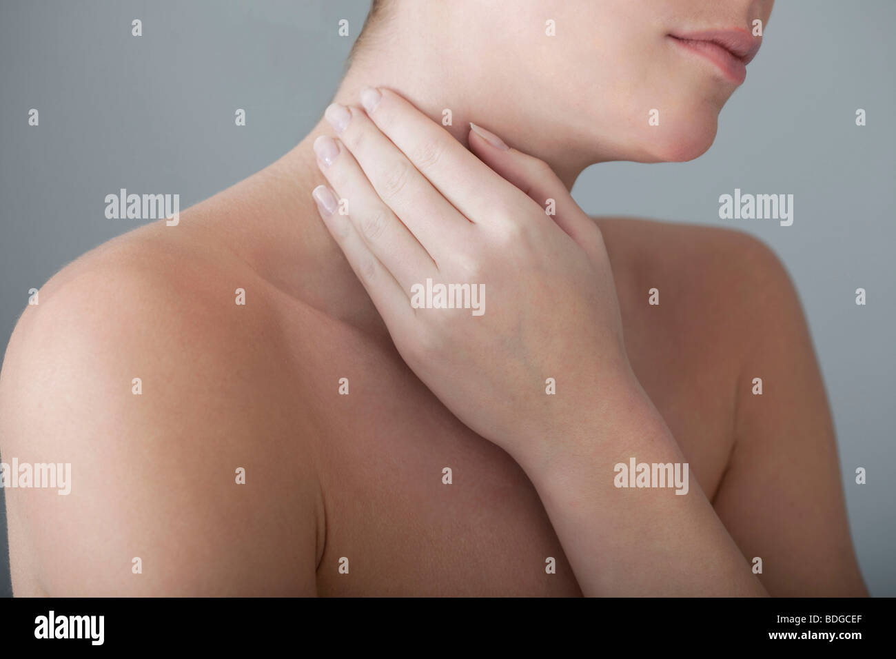 CERVICALGIA IN A WOMAN - Stock Image