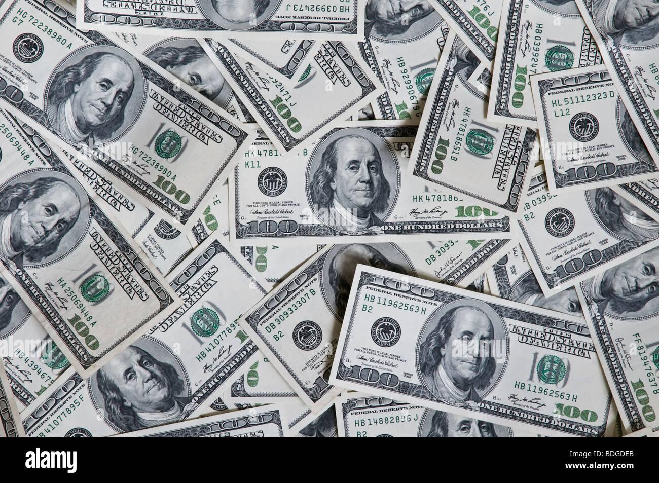 hundred dollar texture - Stock Image