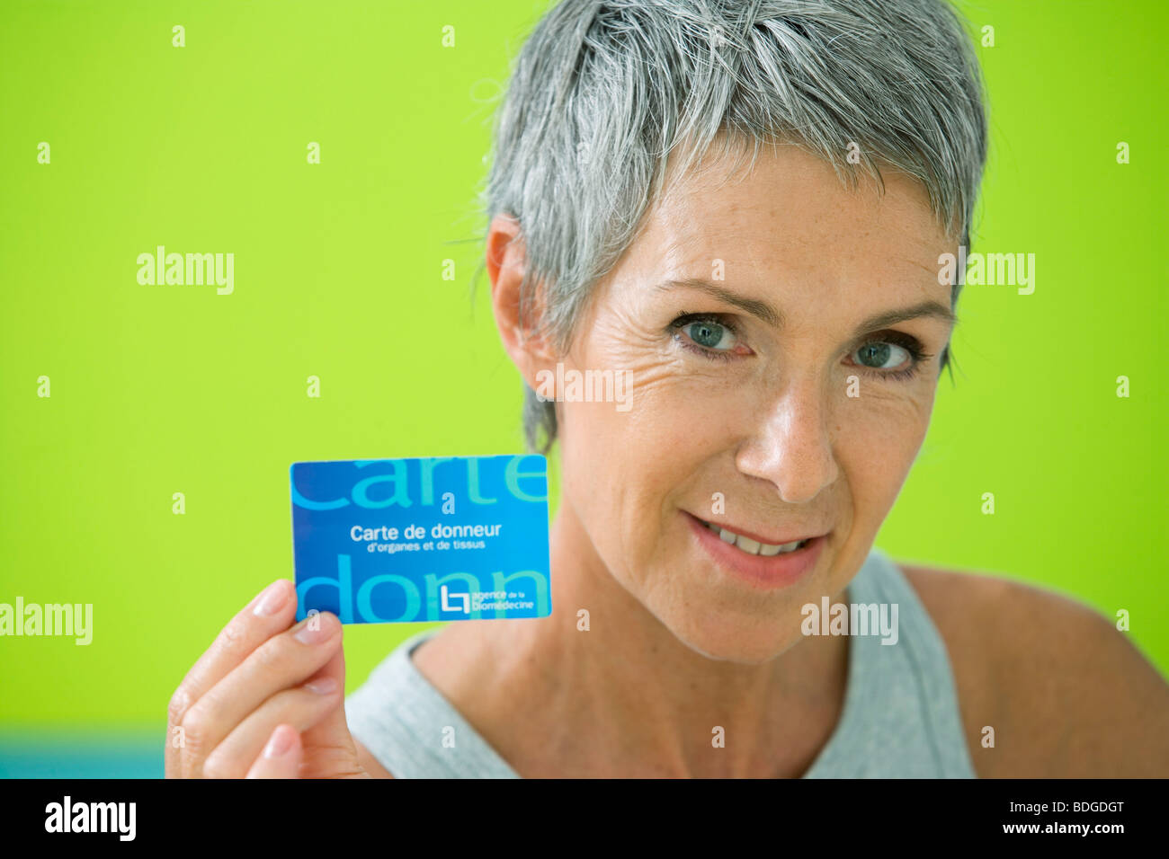DONOR'S CARD - Stock Image