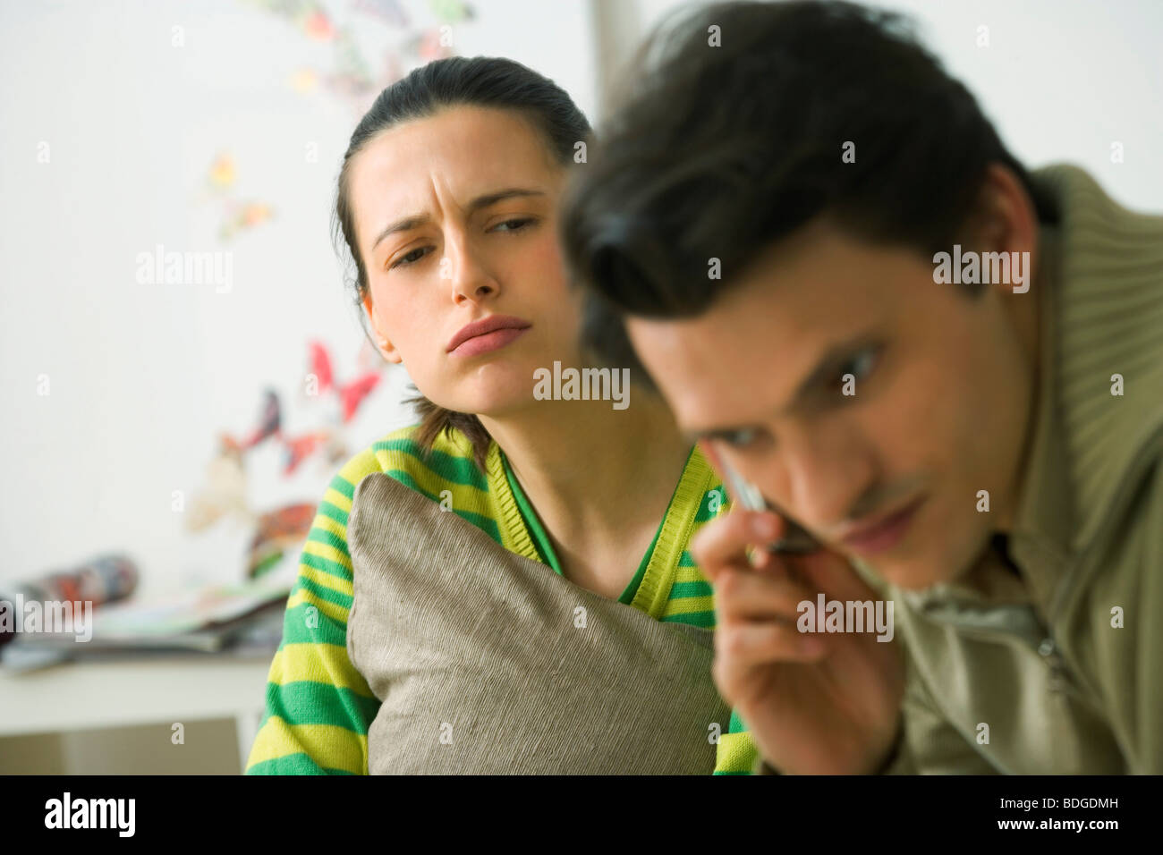 CONFLICT IN A COUPLE - Stock Image