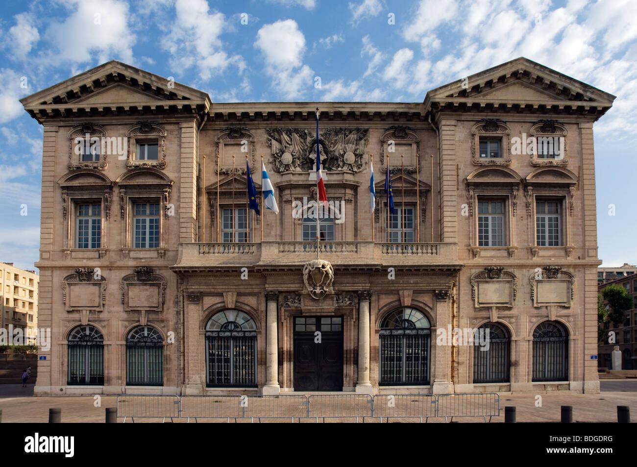Hotel de Ville, Marseille Stock Photo