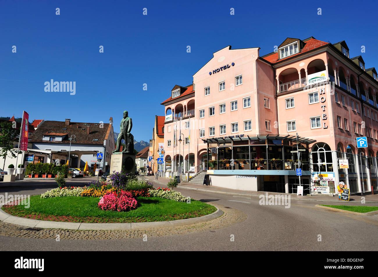 Füssen, District of Ostallgäu, Bavaria, Germany Stock Photo