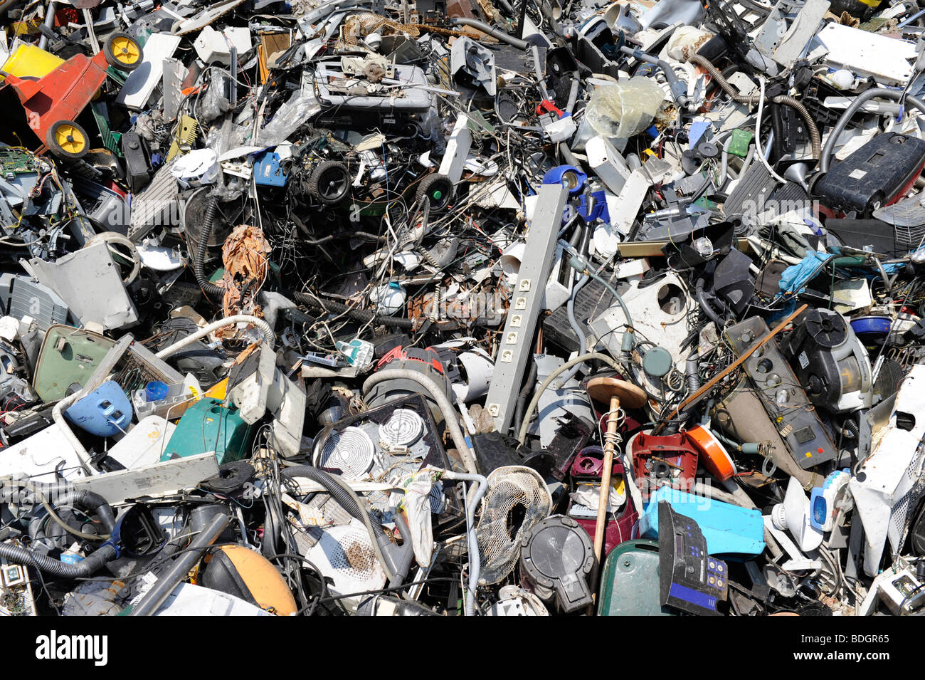 GERMANY HAMBURG recycling of electronic scrap at electronic recycling company TCMG, not used electronic consumer - Stock Image