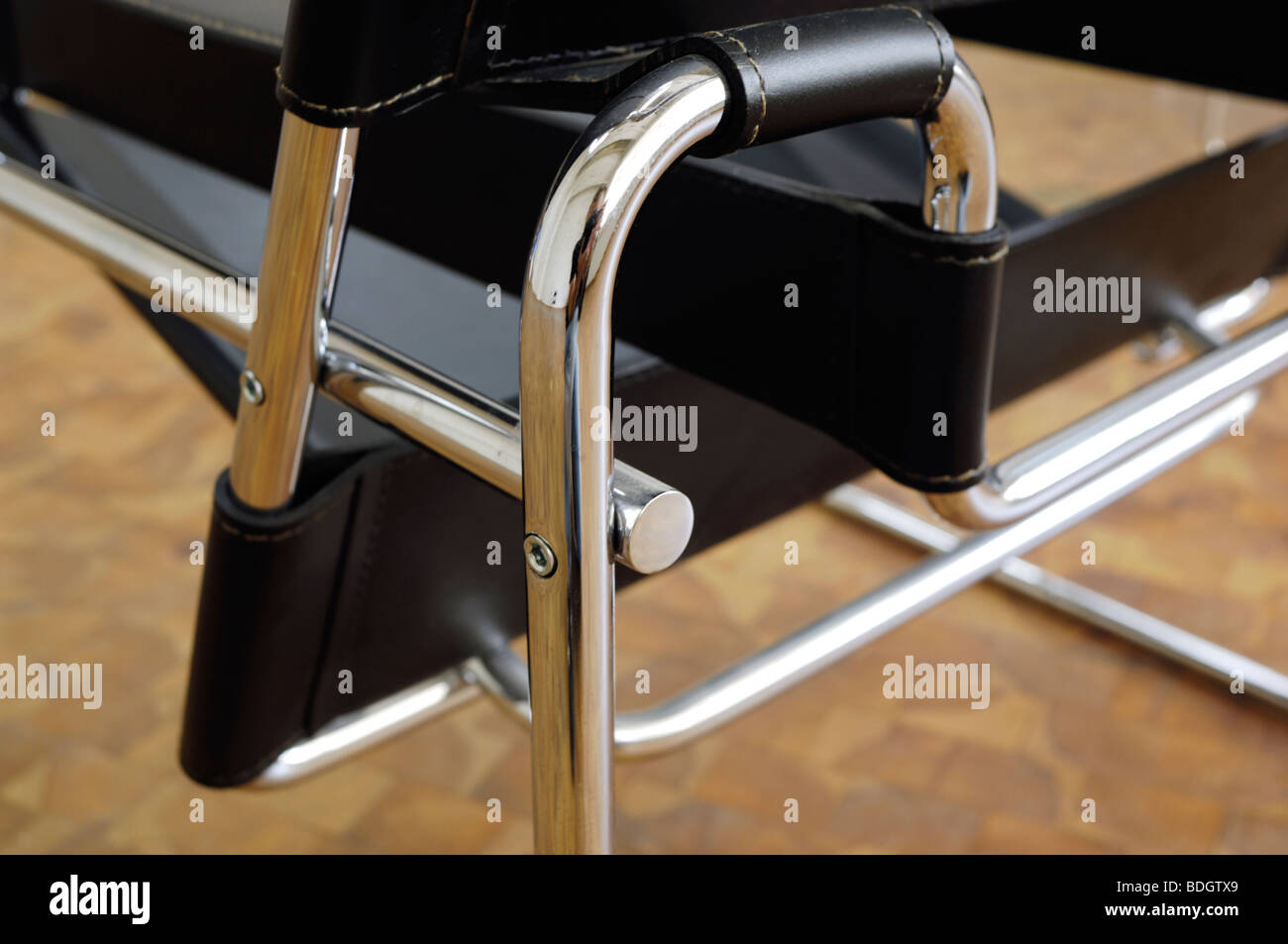Bauhaus-classic Wassily Sessel (1925) by Marcel Breuer Stock Photo