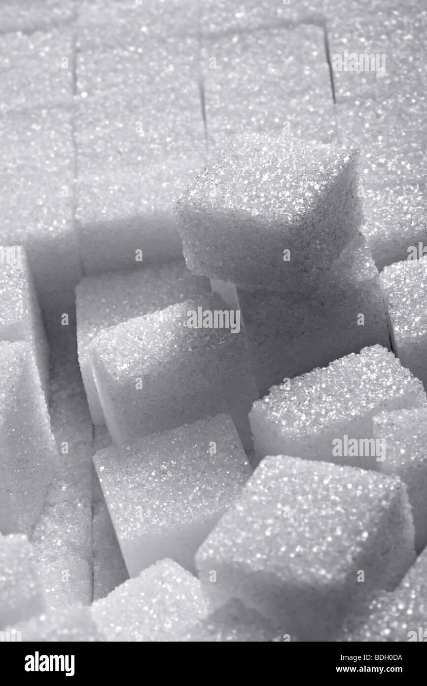 Close-up of sugar cube - Stock Image