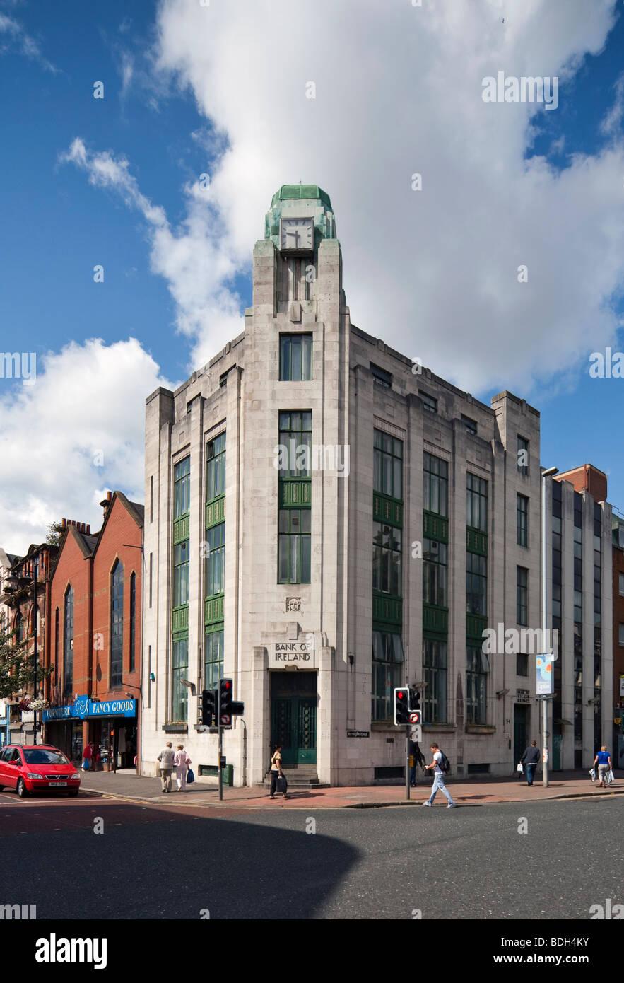Former Bank of Ireland building, Royal Avenue, Belfast, Northern Ireland - Stock Image