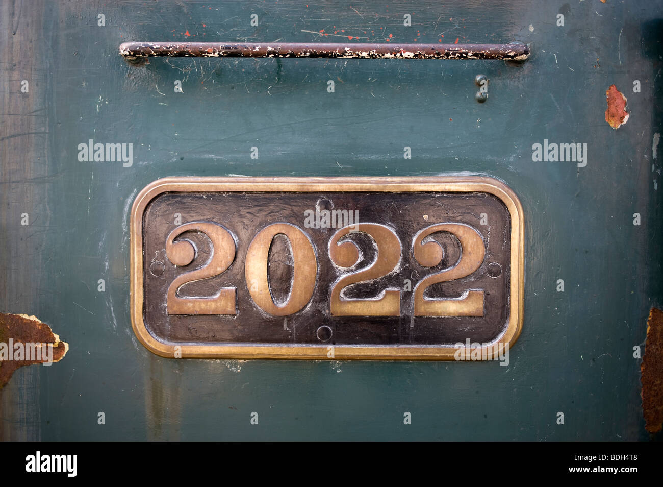 Engine Number - Stock Image