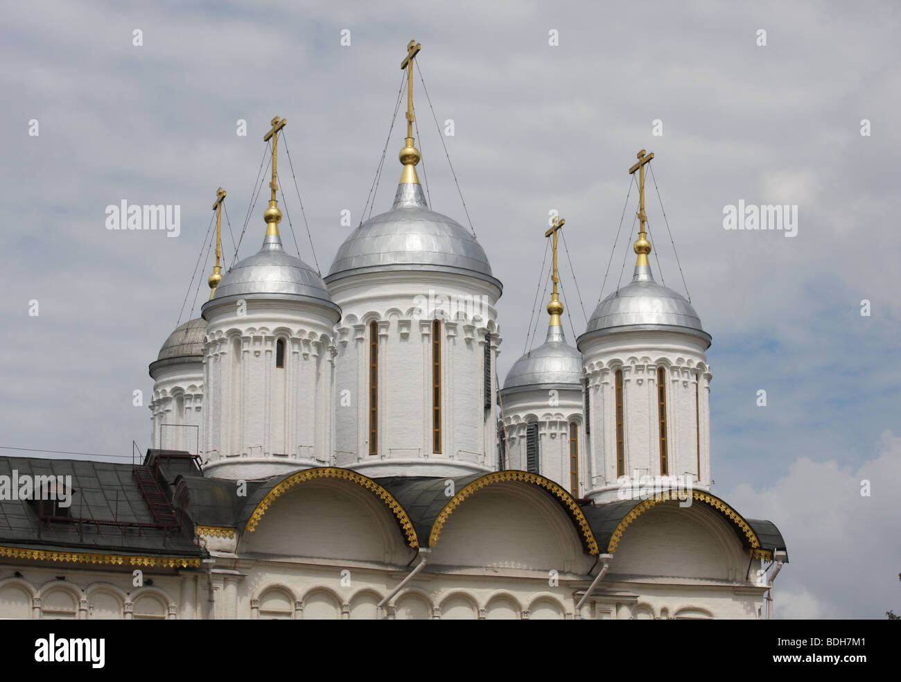 Church of Disposition of Our Lady's Robe, Kremlin, Moscow, Russia, travel  tourism historic historical architecture - Stock Image