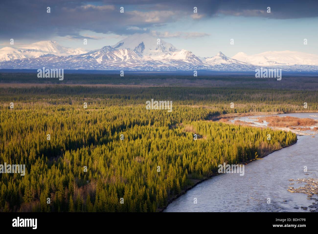 Mount Drum, Wrangell Saint Elias National Park, Alaska. - Stock Image