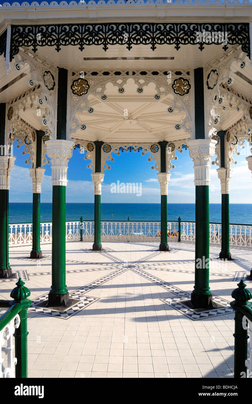 The restored seafront bandstand Brighton - Stock Image