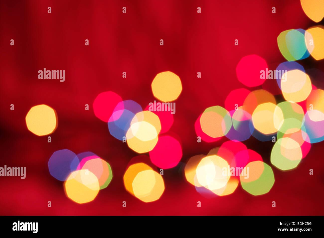Nice abstract Christmas lights background - Stock Image