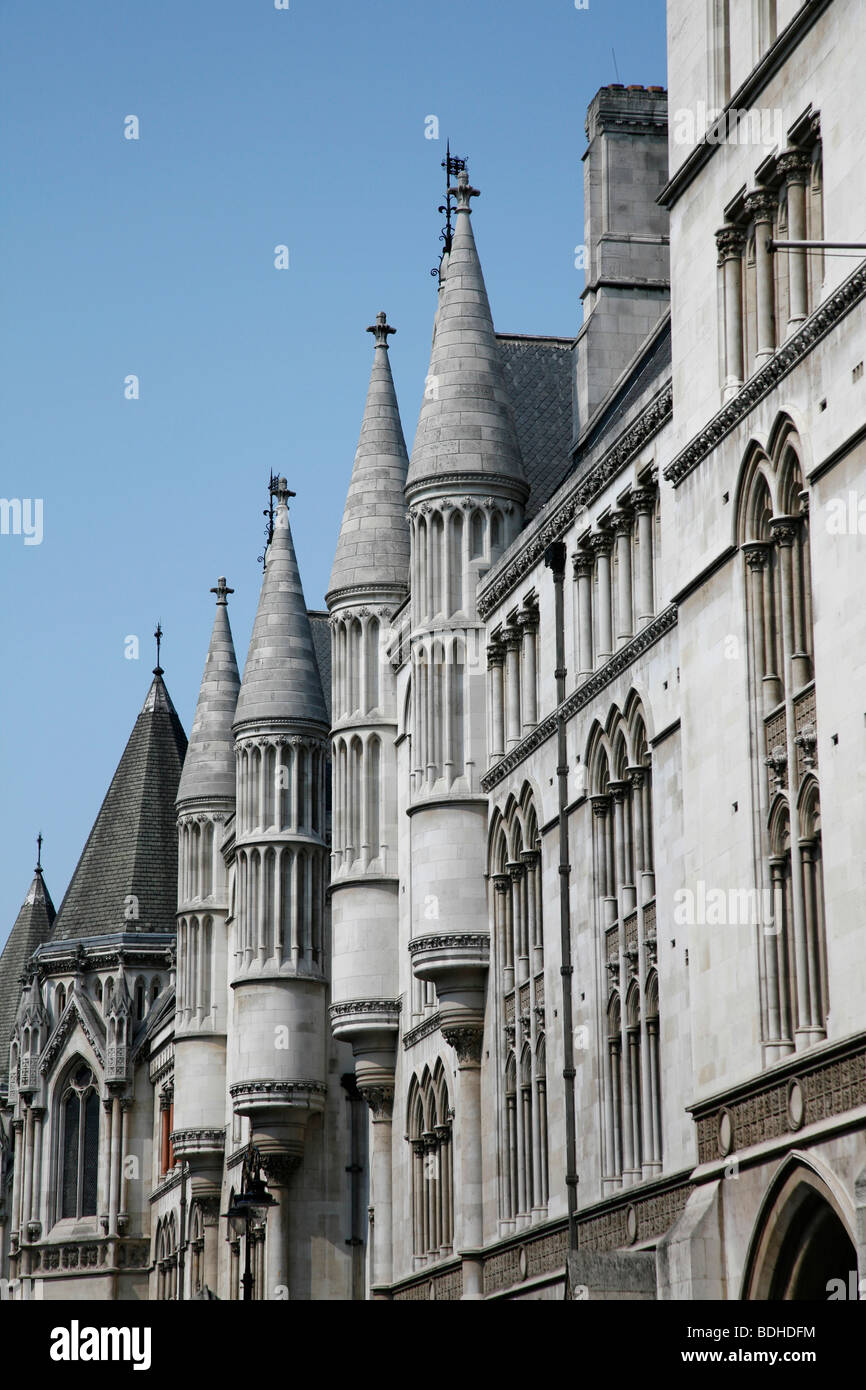 Royal Courts of Justice (Law Courts) on The Strand, London, UK - Stock Image