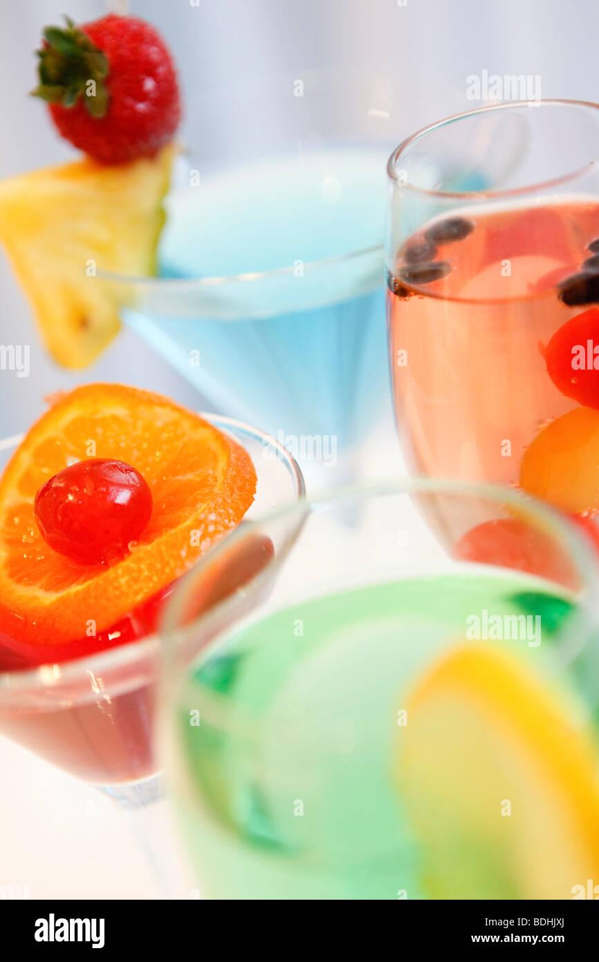 Shimla Pinks Indian Restaurant, cocktails - Stock Image