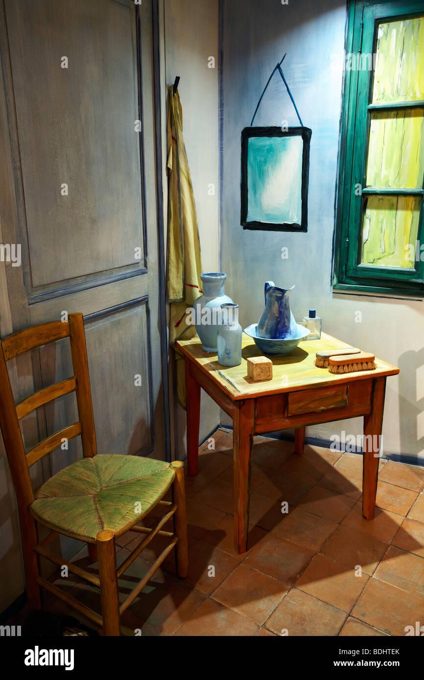 Recreation Of Van Gogh S Bedroom Chambre De Vincent Museum Arles